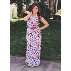 Dresses & Skirts - Purple Floral Maxi Dress